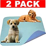 Careoutfit 2 Pack – Premium Waterproof Reusable/Quilted Washable Large Dog/Puppy Training Travel Pee Pads – Size 34 x 36