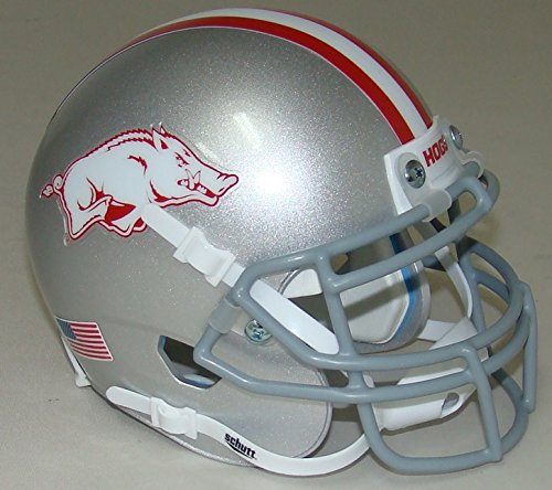 Arkansas Razorbacks Gray Schutt Authentic Mini Helmet - Arkansas Razorbacks Mini Helmet