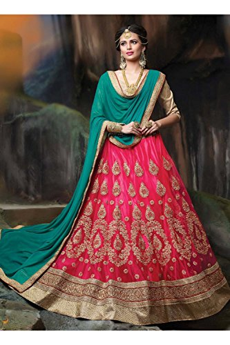 IWS Indian Women Designer Wedding pink Lehenga Choli K-4595-40311
