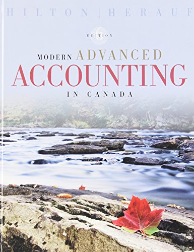 Modern Advanced Accounting in Canada, 6th Edition