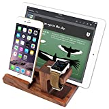 iVAPO MM607 3 in 1 Wooden Stand Charging Dock for Apple iWatch, iPhone 5s, 6, 6 Plus, iPad Air, iPad Air 2, iPad Mini