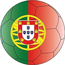 "Portugal Europe Soccer Ball Flag Football Sport Sticker Decal Design 5"" X 5"""