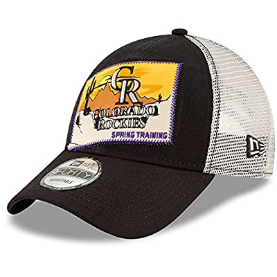 Colorado Rockies New Era 2018 Spring Training Patched 9FORTY Adjustable Trucker Hat Black