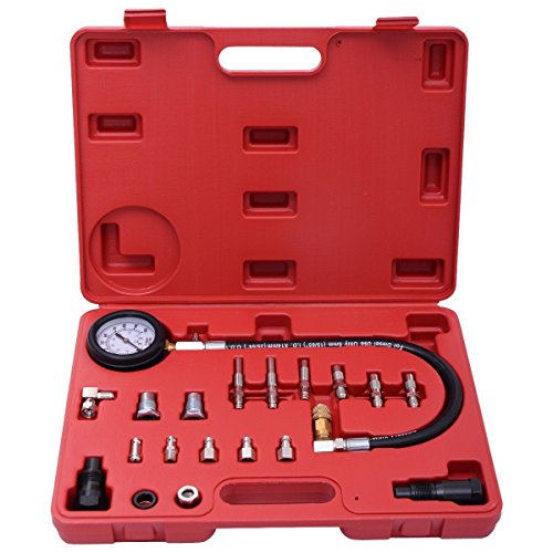 "NEW Auto Cylinder Pressure Meter Tester Tool Set 2.5""Gauge For Diesel Vehicle Engine from Jikkolumlukka"