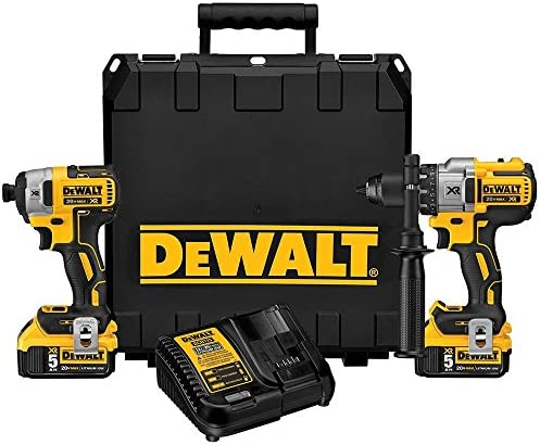 DEWALT 20V MAX XR Cordless Drill Combo Kit, Brushless, 5.0-Ah, 2-Tool DCK299P2
