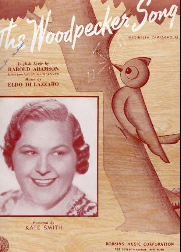 The Woodpecker Song ( Reginella Campagnola ) - Vintage Sheet Music