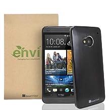 GreatShield TERRA Series Brushed Metal + PC Cover Case Skin for HTC One / HTC M7 (Black / Black)