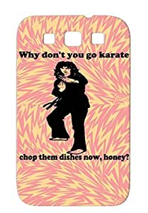 Judy Chop T Shirts Funny Karate Moves Lady Martial Arts Martial Arts Kung Fu Sports Fails Black For Sumsang Galaxy S3 Karate Chop Case
