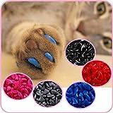 IMAKAR - Fundas para uñas de gato, 20unidades, tubo de pegamento y aplicador incluidos No tóxico y fácil de usar. Estas fundas para uñas de gato son la solución ideal para proteger el interior de tu hogar