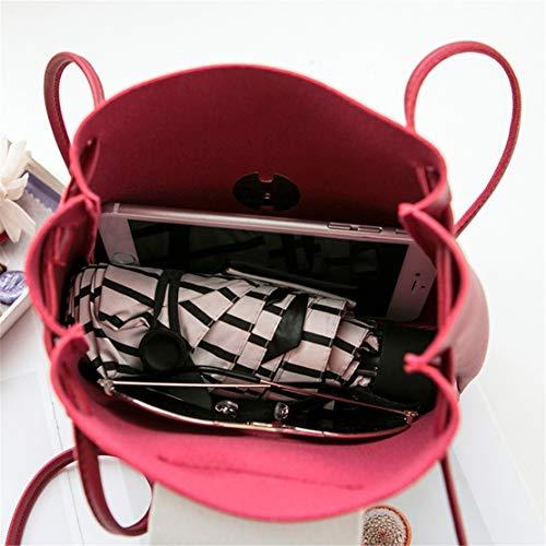 Rouge Tendance Bandoulière Sacs Shopping Besace Couleur Pu Crossbody Élégant Étanche Seau Femme Hf Unie À Mode Morning Cuir Sac Sacoche Simple Embrayages xq8FTI1w