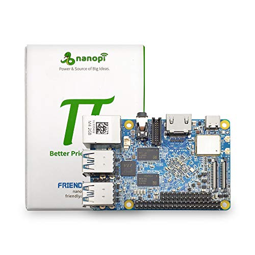 NanoPi M4 ARM Single Board Computer Rockchip RK3399 Mini PC Support Android 8.0 Linux OpenCV 4.1,Bundle with 13.2MP MIPI Camera Module