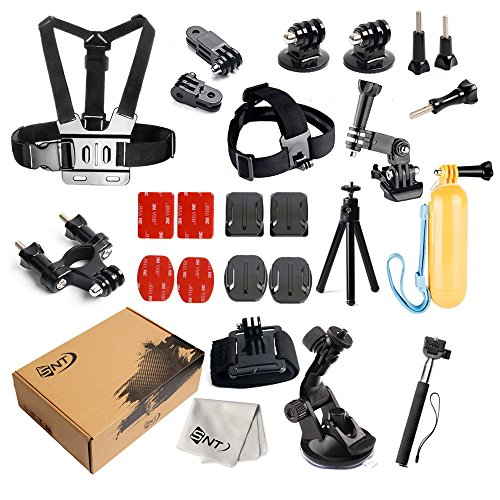 SNT Digits Accessories Bundle Kit for GoPro Hero 5/4/3/2/1 Action Camera Accessory Set for Ourdoor (Float Arc)