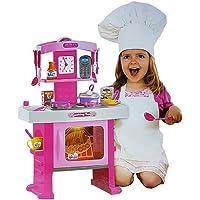 Set de Cocina de Juguete con Estufa Luminosa, Accesorios de Cocina con Sonido y Alimentos.