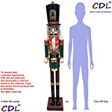 CDL 48''4ft tall life-size large/giant Christmas wooden nutcracker soldier Drummer ornament on stand play drum for indoor outdoor Xmas/event/ceremonies/commercial decoration K37