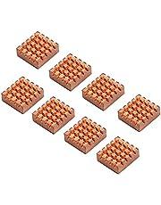 Enokay 8 Pieces 14*12*5.5mm Cooling Copper Heatsink for Raspberry Pi VGA RAM Cooling Heatsinks Cooler
