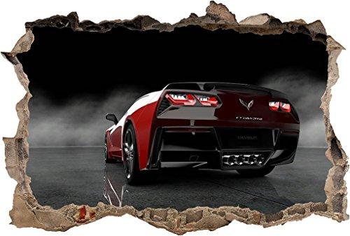 Chevrolet Corvette Stingray Car 3D Smashed Wall Sticker Decal Art Mural J888, Large