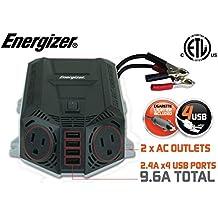 ENERGIZER 500 Watt Power Inverter 12V DC to AC + 4 x 2.4A USB charging ports Total 9.6A