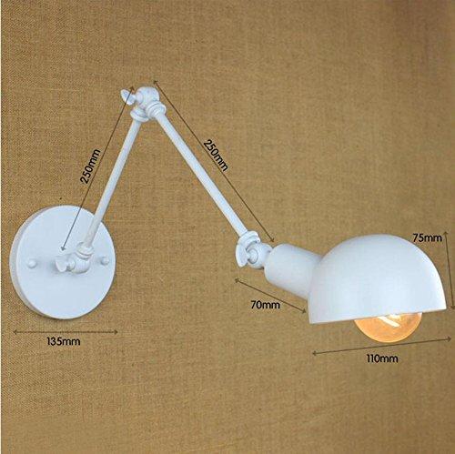 FAYM - lampada da parete Archaize semplice bianco braccio di ferro battuto lampada da parete