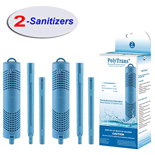 - POLYTRANS Spa Hot Tub Filter Mineral Sanitizer Stick for Spas and Hot Tubs(2-Sanitizers)