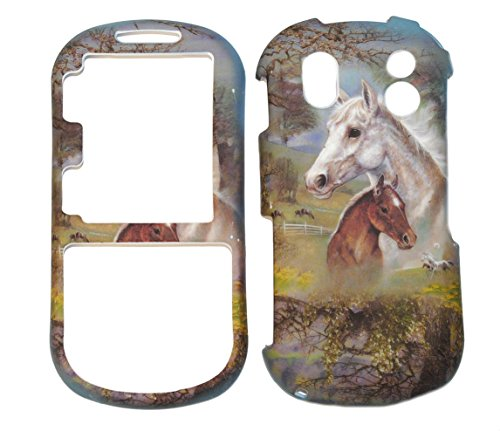 - Horse & Pony Design Rubberized Snap on Hard Protective Cover Case for Samsung Intensity 2 U460