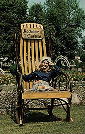 Perfect Rockome Gardens Arcola, Illinois Original Vintage Postcard