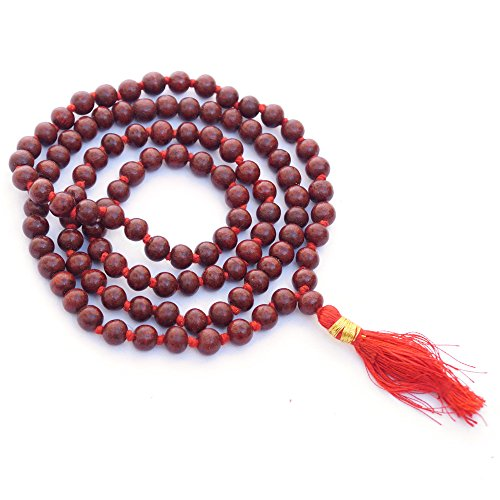 Rose Wood Mala | Mala Beads | Meditation | Prayer Beads | Rosary - 108 Beads ()