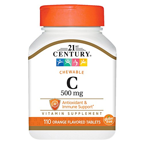 21st Century C 500 mg Orange Chewable Tablets, 110 Count Dog Tablet Vitamins