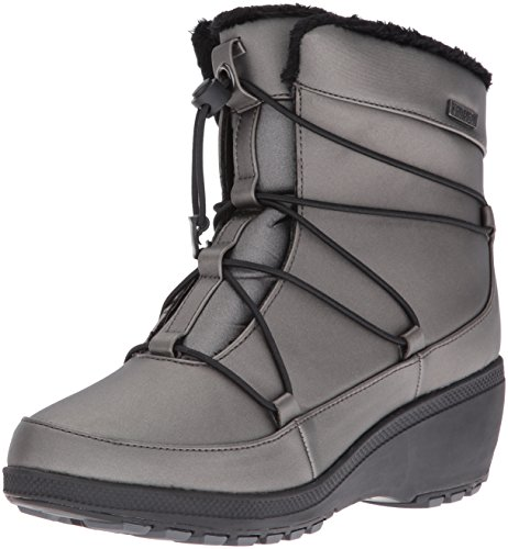 Khombu Women's Ashlyn Snow Boot, Pewter, 7 M US