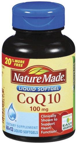 Nature Made CoQ10 100 mg, gélules 72