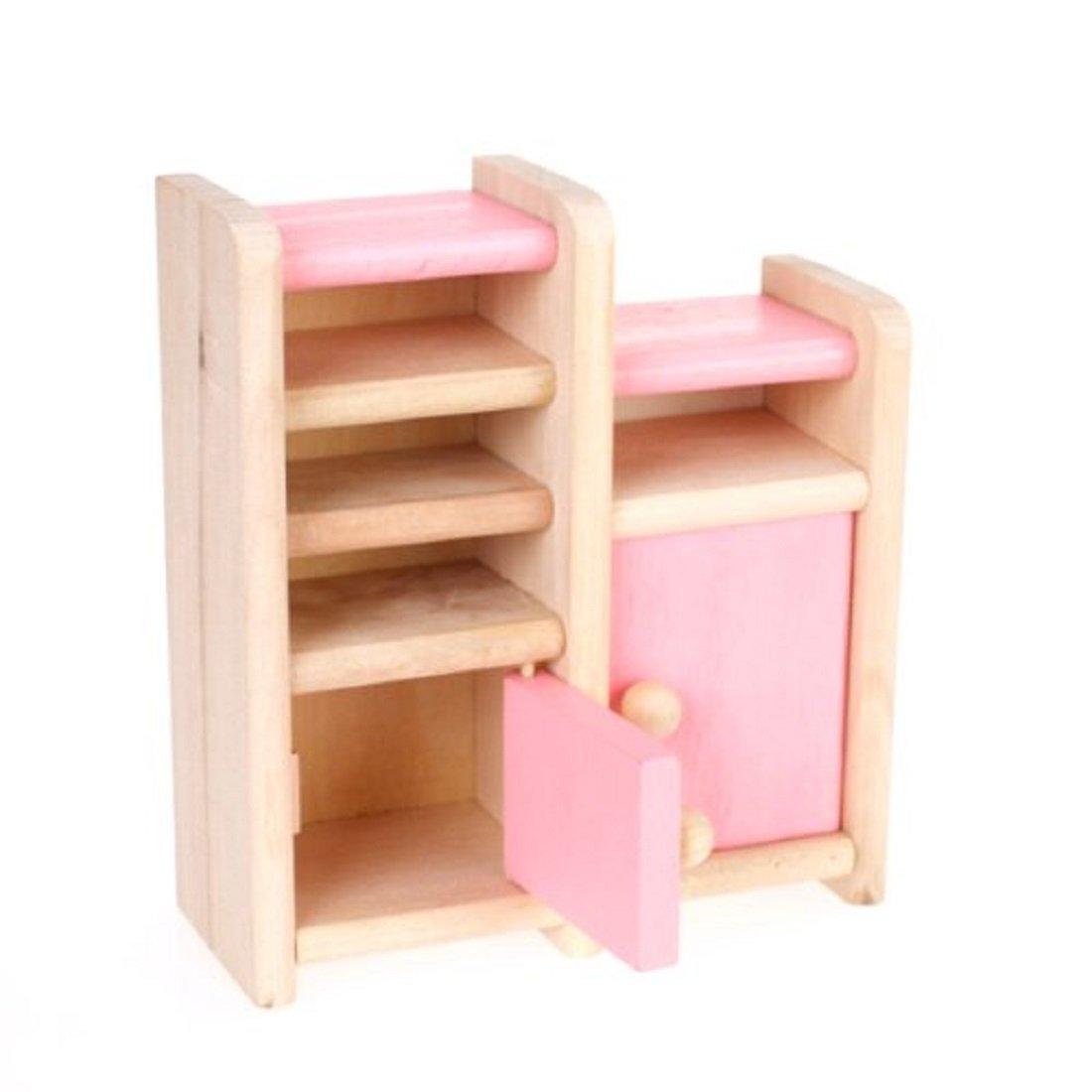 Amazon.com: Aisster(TM) Wooden Furniture Dollhouse Miniature Pink Dining  Room Set Children Toy: Toys U0026 Games