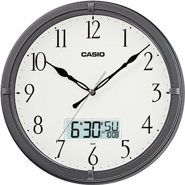 - Casio Ic-01-8 Wall Clock with Day and Date Analog Digital Display