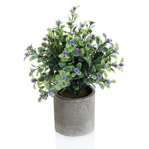Decorative Artificial Potted Purple Textured