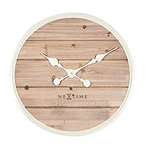 Nextime Plank Reloj de Pared, Madera, Blanco, 50 x 6 x 50 cm 11