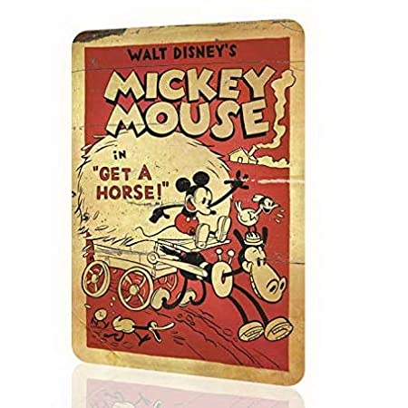 Uptell Metal Sign Mickey Mouse Disney Classic Poster Retro Vintage Number One