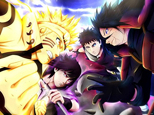SV6086 Naruto Uzumaki Naruto Uchiha Obito Tobi Uchiha Madara Uchiha Sasuke Anime Manga Art 24x18 Print POSTER