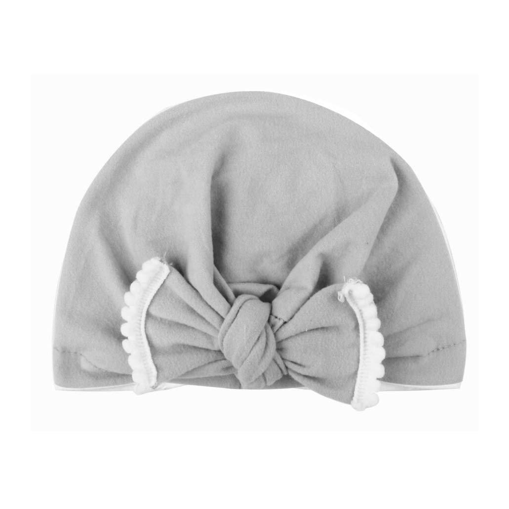 AKAISIHN Baby Girl Hat Newborn Turbans Headwraps Infant Nursery Hospital Hat Toddlers Headwear