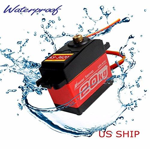 20KG K3 Waterproof High Torque Super Digital RC Metal Gear Metal Casing Arduino Airplane Helicopter Boat Car Servo Motor