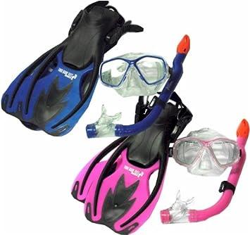 59803499759 TBF Combo 3 Piece KIDS Set - Mask + Fins + Snorkel Set - Two Bare ...