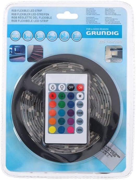 Grundig - Tira LED con mando a distancia (5 m): Amazon.es: Iluminación