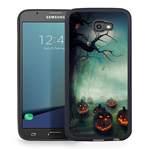 Ftfcase Compatible to Samsung Galaxy J7 2017 Case, J7 2017(AT&T), J7 Sky Pro, J7 Perx case TPU Rubber Gel Design with Samsung Galaxy J7 V 2017 - Halloween Pumpkins ()
