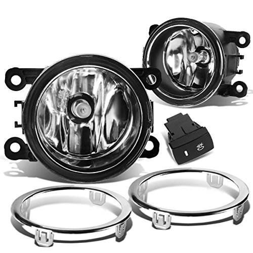 (DNA MOTORING FL-ZTL-185-CH Front Bumper Fog Light, Driver and Passenger Side)