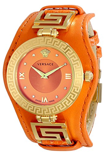 Versace Women's VLA060014 V-SIGNATURE Analog Display Swiss Quartz Orange - Versace Versace Medusa