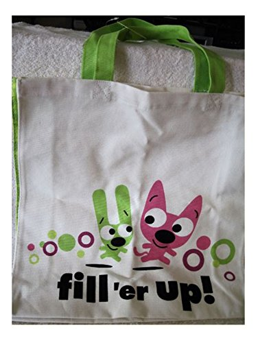 Price comparison product image HYO3463 Hoops & Yoyo Fill 'er Up! Canvas Tote Bag by Hallmark
