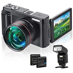 Flashandfocus.com 517n4e5CQ6L._SS300_ Lecran Digital Camera, Video Camera FHD 1080P 30FPS 24MP Video Camcorder, YouTube Vlogging Camera with IR Night Vision…