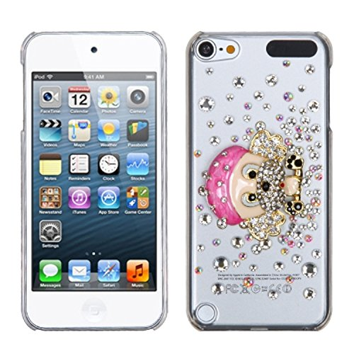 (Asmyna Dog-Gnaw-Bone Crystal 3D Diamante Back Protector Cover with Package for iPod touch)