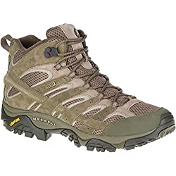 Merrell Men's Moab 2 Mid Wtpf Hiking Boot, Dusty Olive, 8 M US