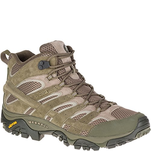 Athletic Waterproof Hiking Boots (Merrell Men's Moab 2 Mid Waterproof Hiking Boot, Dusty Olive, 12 M US)