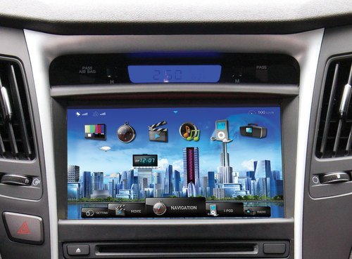 Farenheit F-84SNTA11 OEM Upgrade Multimedia Navigation System with 8-Inch Monitor and Bluetooth for Hyundai Sonata 2010 and 2011 ()