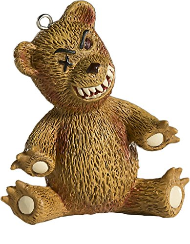 Creepy Teddy Bear Horror Ornament - Scary Prop and Decoration for Halloween, Christmas, Parties and Events - By HorrorNaments -