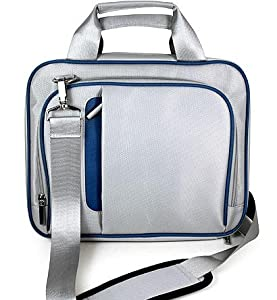 Blue/Gray Shoulder Carrying Case for Apple iPad Tablet WiFi + 3G Models from eBigValue